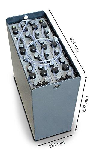 Q-Batteries 24V Gabelstaplerbatterie 3 PzS 375 Ah DIN B (621 * 281 * 627mm L/B/H) Trog 57014023