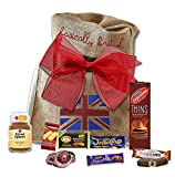 British Coffee O'Clock Gift hamper by The Yummy Palette | Douwe Egberts Borders Biscuits British food Digestives in Basically British Rustic Bag