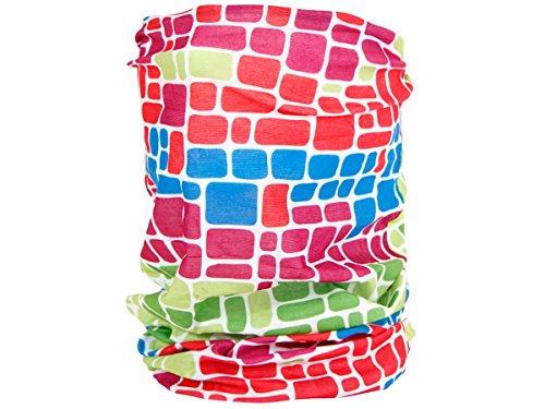 Alsino Multifunktionstuch Schlauchtuch Halstuch Multischal Multiscarf alle Farben, Variante wählen:MF-154 Muster bunt