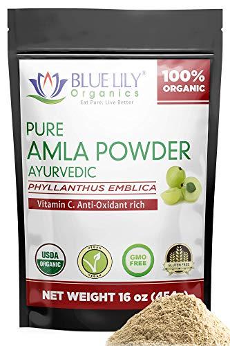 Blue Lily Organics Amla (Amalaki/Indian Gooseberry) Fruit Powder. 1 lb...