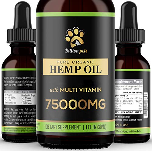 Billion Pets - Hemp Oil for Dogs Cats - Made in...