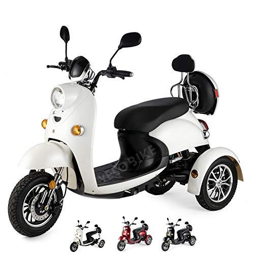 VELECO Scooter électrique 3 roues Rétro Senior Handicapé...