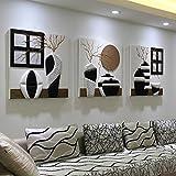 Pitture murali dipinti di pitture murali su pareti del salotto quadri con dipinti di camere da letto per ristoranti pitture a rilievo tridimensionali murales( Color : Silver , Size : 70*70cm )