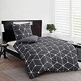 Ruikasi - Juego de cama (135 x 200 cm, 4 piezas, 100% microfibra suave y cómoda, 2 fundas...