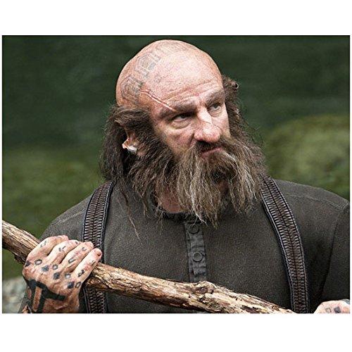 Graham McTavish as Dwalin holding staff in The Hobbit 8 x 10 Inch Photo
