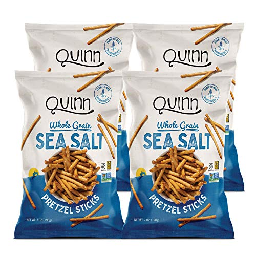 Quinn Classic Sea Salt Pretzel Sticks, 7 Oz Bag (4 Count)