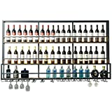 Wine Cup Rack Wall-Mounted red Wine Wall Wine Rack Wrought Iron Wine Rack Wall Hanging Wine Cabinet...