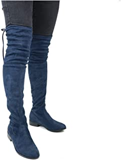 81c171d63ea57 Amazon.com: Blue - Over-the-Knee / Boots: Clothing, Shoes & Jewelry