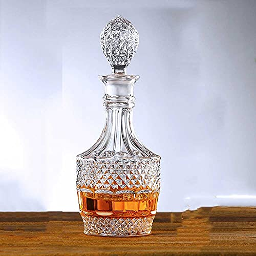 Decantador De Vidrio De Botella De Vino Con Tapón De Sellado Personalizado, Un Vidrio De Decantación De Whisky Para Vino, Bourbon, Brandy, Vino, Jugo, Agua, Enjuague Bucal 80 0ML / 23.75 Onz