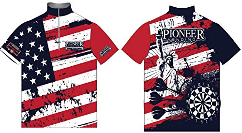 Fantastic Deal! 4 Time All American Pioneer Murica Darts Jersey (Large)