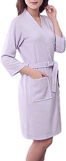 comprar comparacion Bata Térmica Super Suave Manga Larga Albornoz para Mujer y Hombre Robe