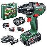 Bosch taladro atornillador a batería AdvancedImpact 18 (2 baterías, sistema de 18V, con accesorios, en maletín de...