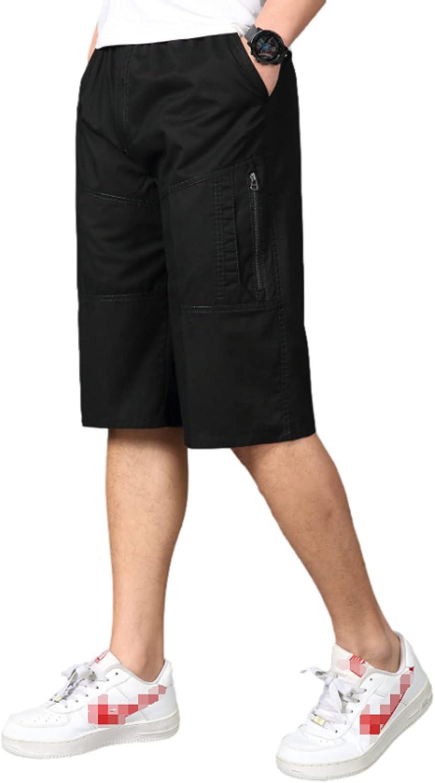 Wantess Men's Loose Fit Shorts Summer Large Size Casual Comfortable Drawstring Elastic
