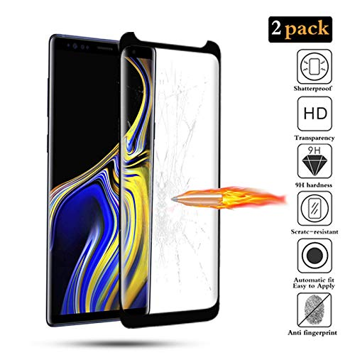 GoodcAcy[2-Pack Protector Pantalla Samsung Galaxy Note 9, Cristal Templado,Vidrio Templado con[9H Dureza][Alta Definicion][Garantía de por Vida] para Samsung Galaxy Note 9