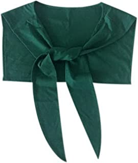 Navy Style False Collar Shawl Fashion Rabbit Ear Shaped Collar Shawl, Dark Green