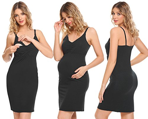 Avidlove Women Tops Breastfeeding Nursing Bras Top Pajamas for Pregnant Maternity Black Small