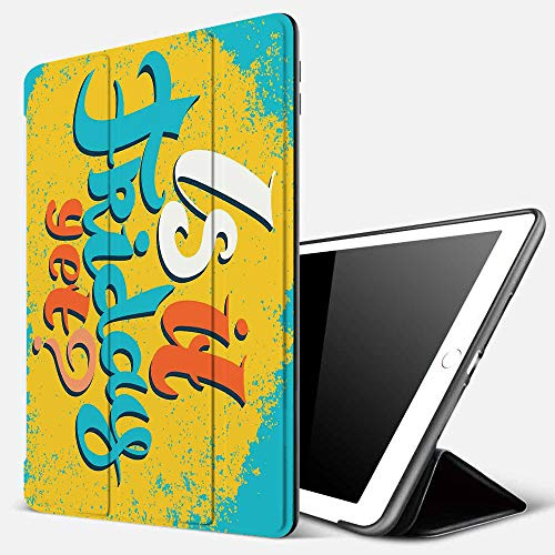 Case for iPad Air 10.2(2019/2018),Quote,is It Friday Yet Funny Question Business People Weekend Holiday,Sky Blue Earth Yell,Cover with Auto Sleep Wake Feature, Slim Lightweight Stand Protective Case