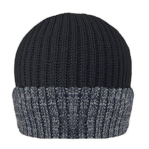 Thinsulate - Bonnet - Homme Noir Grey & Black