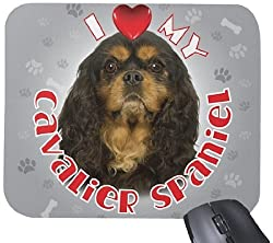 iLeesh i Love My Cavalier Spaniel Mouse Pad Black [Amazon/Cossac Planner]