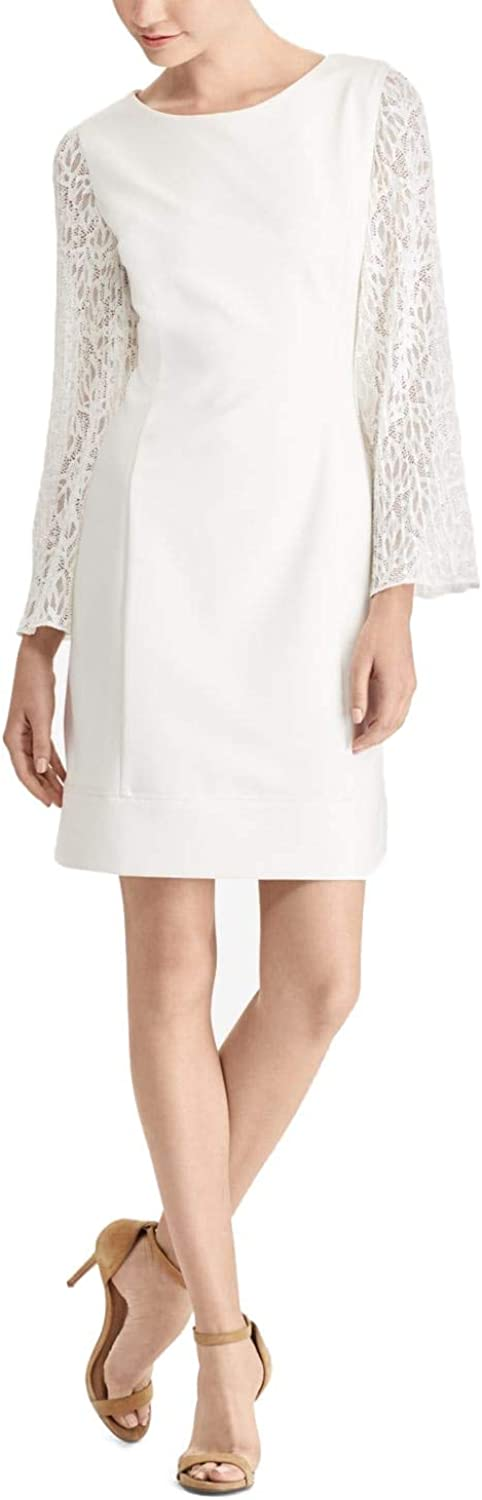 American Living Womens LaceSleeve Shift Dress