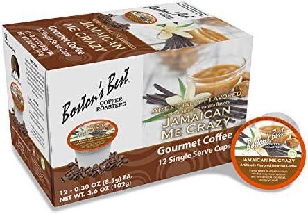 Boston s Best Coffee Roasters Jamaican Me Crazy Medium Roast 100 Arabica Coffee 12 Single Serve product image