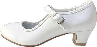 La Senorita Spanische Flamenco Schuhe - Ivory Weiß