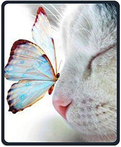 Alfombrilla ratón 30 * 25 * 0.3cm Mariposa Gato Rectángulo