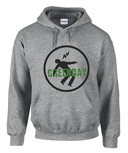 Green Day Punk Rock Music Fun Grau Kapuzenpullover Hoodie -3370 (M)