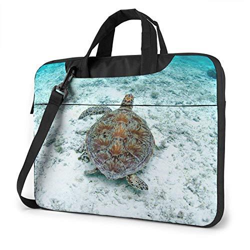 Laptop Messenger Laptop Bag Sea Turtle Tropical Shoulder Bag Briefcase Office Laptop Sleeve Case Satchel Tablet for Men Women