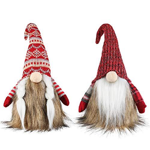 Meriwoods Christmas Gnomes 17 Inch 2 Pack, Large Stuffed Plush Tomte Swedish Santa Indoor Decoration
