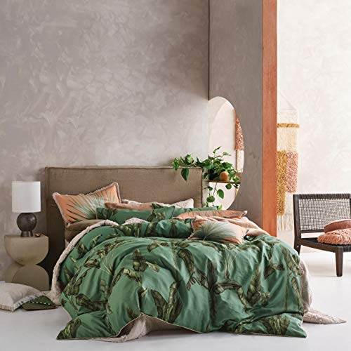 Linen House Livia Duvet Cover Set, Green, Double