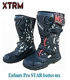 Moto Bottes Enfants Xtrm Pro Star Quad MX Le Sport Motocross Hors Bottes d'armure de Route (EU 29)