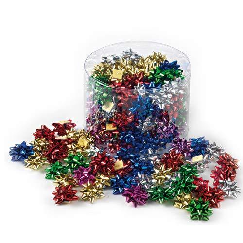 Brizzolari Barattolo 100 Coccarde Stelle Adesive, Multicolore, Metal 5Mm Diametro 22Mm, Cod 4170