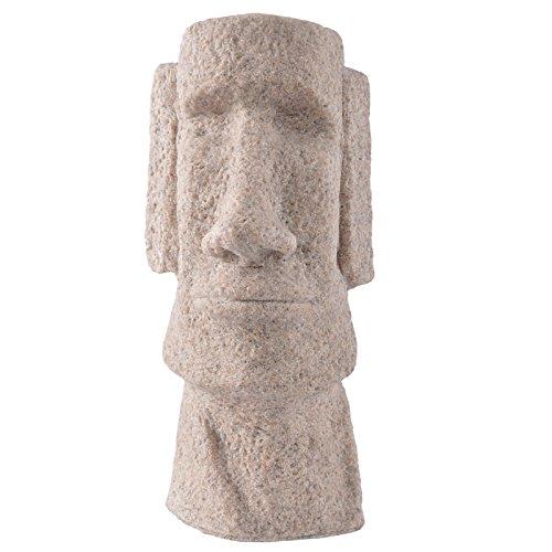 PETSOLA Estatua De Moai Tallada A Mano Escultura De Piedra Arenisca Casa Arte Ornamento Vintage Estatuilla