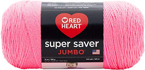 Coats & Clark Red Heart 073650013508 Super Saver Hilo Jumbo, Pretty N Pink, 1