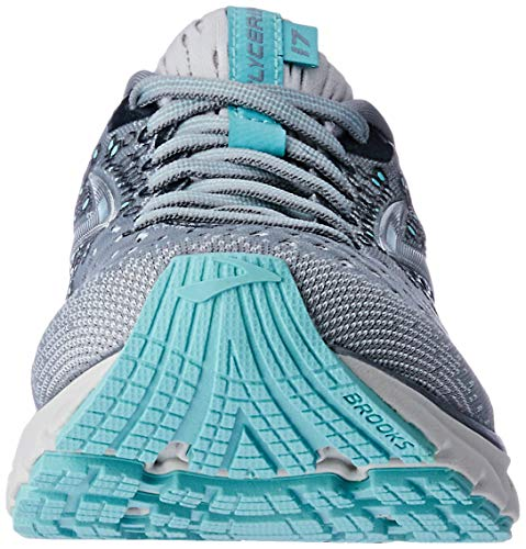 Brooks Womens Glycerin 17 Running Shoe - Grey/Aqua/Ebony - B - 9.5 6
