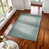 Taracarpet Teppich Kurzflor modern für Wohnzimmer Schlafzimmer und das Kinderzimmer super weich und Öko Tex Zertifiziert Mint grün 060x090 cm