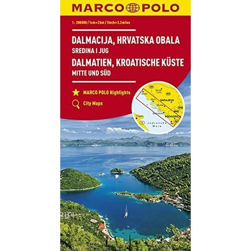 Carte Cote Croatie.Carte Croatie Amazon Fr