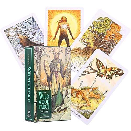 Wildwood Tarot 78 Cartas Tarot Cartas Oracle Baraja Adivinación Futuro Pronóstico del Destino Fiesta Familiar Juegos de Mesa (Versión en inglés)