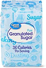 (4 Pack) Great Value Pure Cane Sugar, 4 Lb Gluten-Free Sugar is Granulated