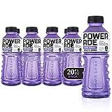 POWERADE ZERO, Zero Calorie Electrolyte Enhanced Sports Drinks, Grape, 20 fl oz, 8 Pack