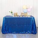Mantel de lentejuelas azul real de 50 x 80 pulgadas para bodas, mantel de lentejuelas rectangular con purpurina, mantel de tela de lentejuelas azul con lentejuelas, decoración de estrellas