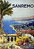 Póster de Eliteprint San Remo Vintage Italia de viaje de turismo italiano, tamaño A4, con impresión de 250 g/m²