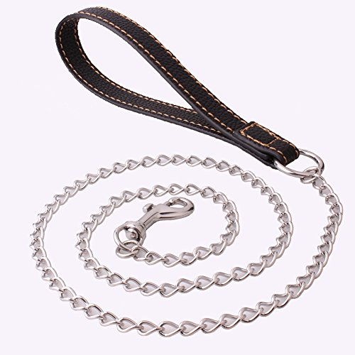 5mm Kleine huisdier hond riem tractie met roestvrij staal tractie touw anti-bite hond trek ketting goud