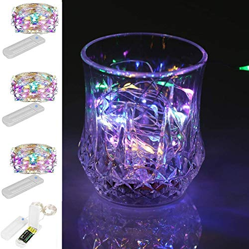 ZNYCYE 3 Pack 8.2ft 50 LED Coloured Fairy Lights with Timer, 7 Modes Waterproof Pastel Fairy Lights Battery (Included) Operated for DIY,Wedding,Party,Mason Jars,Christmas Decorations (Multicolor)