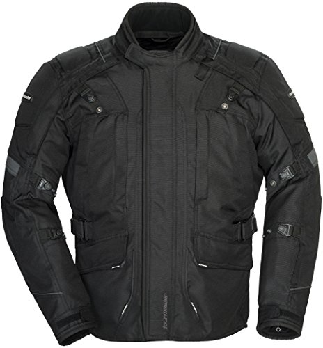 Tourmaster Transition Series 4 Men's Textile Motorcycle Touring Jacket (Black, X-Small)