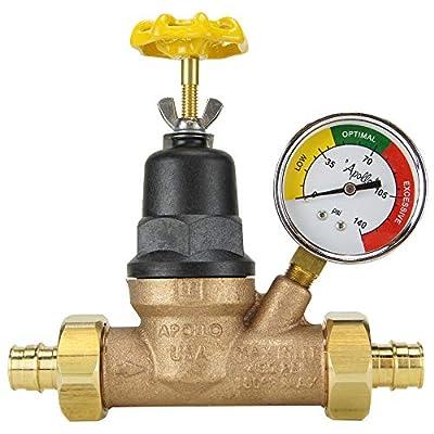 Apollo EPXPRV34WG Water Pressure Regulator w/Gauge, Bronze from Apollo