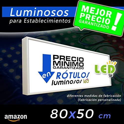 Rótulo Luminoso led 80x50 cajón luminoso para publicidad letrero lum