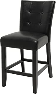 Steve Silver Furniture Monarch Counter Height Parsons Chair in Multi-Step Espresso [Set of 2]