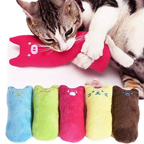 Kingsie ぬいぐるみ 猫 おもちゃ 抱き枕 噛むおもちゃ 猫遊び ストレス解消 運動不足解消 肥満解消 5個セット